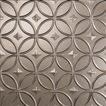 Backsplash Panel 18x24 In Brushed Nickel Rings - Case of 5