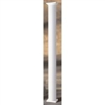 "AFCO 6"" x 10' Fluted Round White Aluminum Column w/Cap & Base"