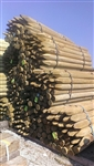 "5-6"" x 7' Round Treated Fence Post Sharpened"
