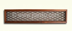 Japanese Wood Ranma, Transom - Geometric Design