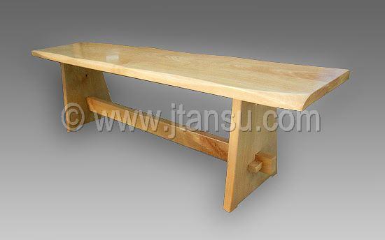 Japanese kyoto style hardwood bench