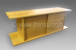 Japanese Tea Okidoko or Geta Shoe Bench Tansu