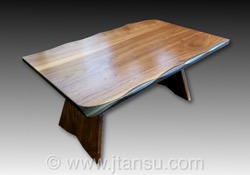 Japanese Walnut Coffee Table, Nakashima Style