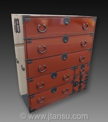 Japanese Lacquer Tansu, Isho Clothing Chest