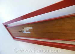 Japanese Ranma Transom-  Red Lacquer Frame