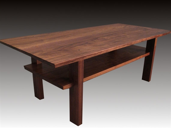 Japanese Walnut Coffee Table Nakashima Style