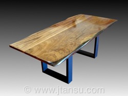 Japanese Walnut Wood Coffee Table
