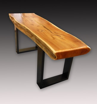 Japanese Elm Wood Bench