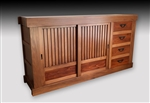 Contemporary Japanese-Style Half-Mizuya Tansu, Kitchen Chest