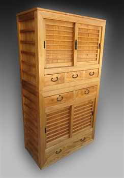 Japanese Two-Section Merchant Tansu