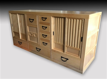 Contemporary Vanity, Mizuya Tansu, Kitchen Chest, Merchant  Chest