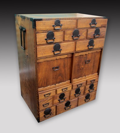 Japanese Choba-Dansu or Merchant Chest Tansu - TW6N192