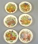 Plates with fruit design