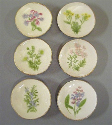Plates with herb design