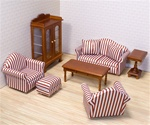 9 Piece Living Room Furniture Set
