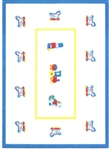 Toys on Parade Felt Printed Rug - Miniature 5x7 -inches