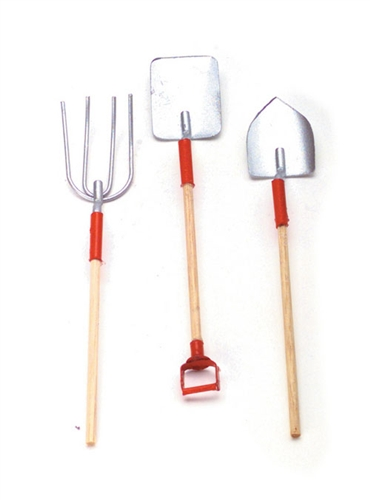 Dollhouse miniatures garden tools miniature accessories for Small garden tools set of 6