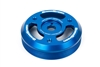 Grimmspeed Lightweight Crank Pulley Blue - Subaru All FA/FB Engines