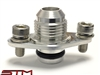 STM ALUMINUM -8AN FUEL RAIL FITTING EVO VIII-IX 95-99 DSM