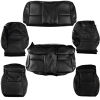 Complete Seat Covers and Headrests kit for a 2012 Chevrolet Camaro Transformers Edition with the AMM, AY0, EAL, KA1, 01A, CTH, and AKQ Options - SMC Performance and Auto Parts