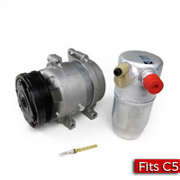A/C Compressor, Accumulator and Orifice Tube 1999-2004 Chevrolet C5 Corvette - SMC Performance and Auto Parts