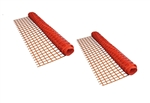 ALEKO 2SF10040OR3X164 Multipurpose Safety Fence Barrier PVC Mesh Net Guard 3 X 164 Feet (0.91 X 50 m), Orange, Lot of 2