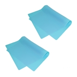 ALEKO 2SPM23X16BL Silicone Non Stick Heat Resistant Baking Mat 23 X 16 Inch (58.4 X 41 cm) Multipurpose Baking Sheet, Lot of 2, Blue
