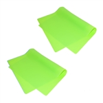 ALEKO 2SPM23X16GR Silicone Non Stick Heat Resistant Baking Mat 23 X 16 Inch (58.4 X 41 cm) Multipurpose Baking Sheet, Lot of 2, Green