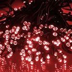 ALEKO® 50 LED Solar Powered Christmas String Lights, Red