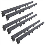ALEKO® 20Ft SET Nylon Gear Rack Fiber-Glass Reinforced With Metal Insert 3.3 Ft each, 4pcs