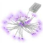 40 LED 13 Feet Battery Operated Purple Lights