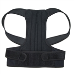 Back and Shoulders Posture Support Brace - Black - Extra Extra Large Size- ALEKO