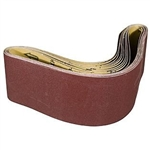 "4"" x 36"" 120 GRIT Abrasive Belt with Cotton Fiber Backing"