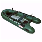 ALEKO® BTF380GR PRO Fishing Boat Raft 12.5 Feet (3.8 m) with Aluminum Floor 6 Person Inflatable Boat with Fishing Rod and Front Board Holders, Dark Green