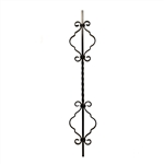 Solid forged iron Baluster 014