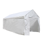 ALEKO Caravan Canopy Polyethylene White Carport Kit 10 X 20 Ft