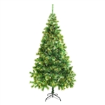 ALEKO® CT95H14 Luscious Artificial Indoor 8 Feet (2.44 m) Christmas Holiday Pine Tree With Golden Tips