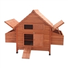 DXH001DLRD Wooden Rabbits, Chickens, Hen Coop Wooden Cage 62 X 39.4 X 44.8 Inches (1.6 X 1 X 1.1 m), Red