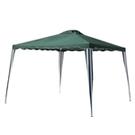 Foldable Iron Gazebo Canopy - 10X10 Feet - Green - ALEKO