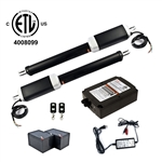 Dual Swing Gate Operator - GG1300U AC/DC - ETL Listed - Back-up Kit ACC2 - ALEKO