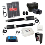 Dual Swing Gate Operator - GG1300U AC/DC - ETL Listed - Solar Kit 30W - ALEKO