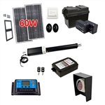 Single Swing Gate Operator - ETL Listed - GG650U - Solar Kit 30W - ALEKO