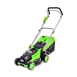 ALEKO® GLM40V 40-Volt Brushless Lithium-ion Cordless Rechargeable Electric Lawn Mower, Green Color