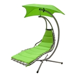 ALEKO  HCL001GR Patio Hanging Patio Arc Stand Swing Chair, Green