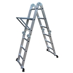 ALEKO® FL-12 12.5 FT Aluminum Portable Telescoping Extension Ladder