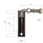 "ALEKO® LM115 3/4"" Regular Hinge J-Bolt for Driveway Gates"