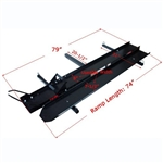 ALEKO® A600 600 LB Hitch Mounted Sport Motorcycle Carrier