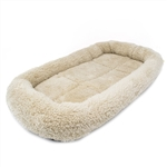 ALEKO® PCM02S Small Soft Plush Beige  Pet Bed Mat