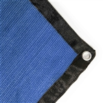 Privacy Mesh Fabric Screen Fence with Grommets - 6 x 150 Feet - Blue - ALEKO