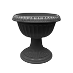 ALEKO PP430BK Beautiful Tall Classic Flower Plant Azura Urn Planter Pot, Black